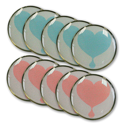 RTS 5415-BP Heart & Teardrop Lapel Pins-Combo